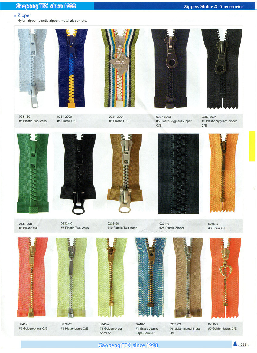 More Specifications Designs Plastic Zipper