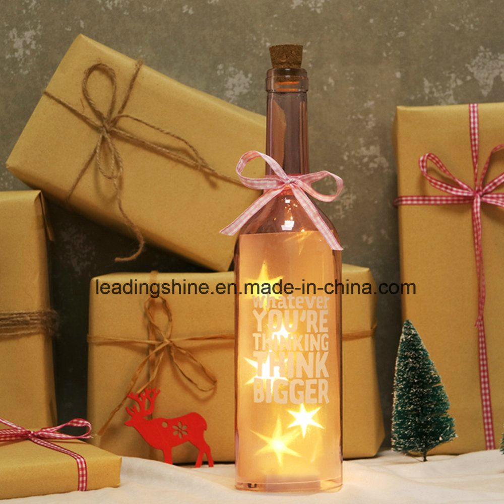 Christmas Gifts LED Fairy Starlight Bottle LED Light up Decoration Glow Sentiment Gift