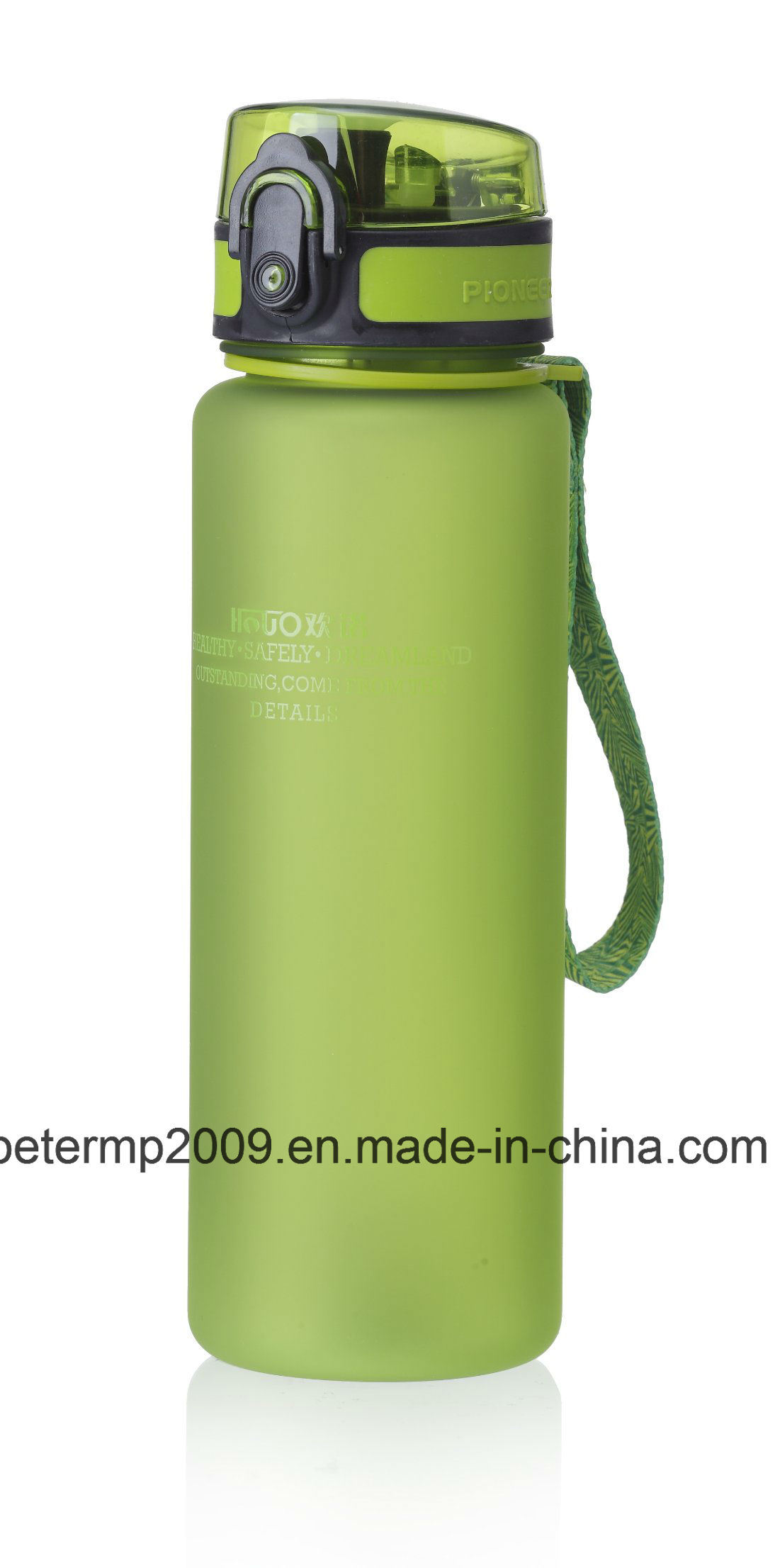 600ml 20oz Plastic Water Bottle, Gray Sport Bottle, Customized Color and Design Bottle