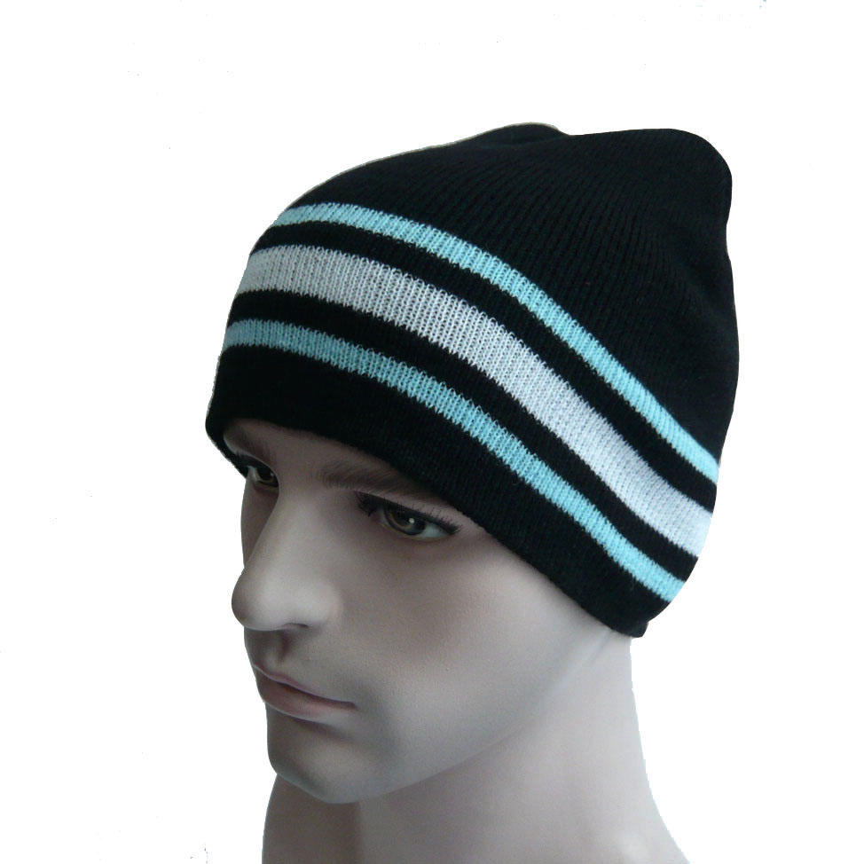 Multi Color Striped Warm Beanie Hat