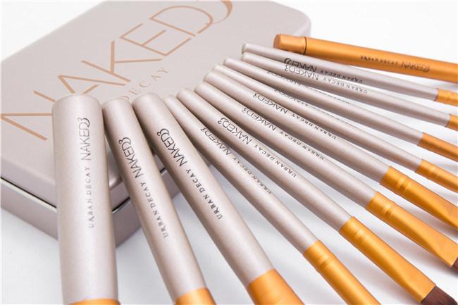 12PCS Stock Wholesale 12PCS Natural Hair Professional Makeup Brush Set