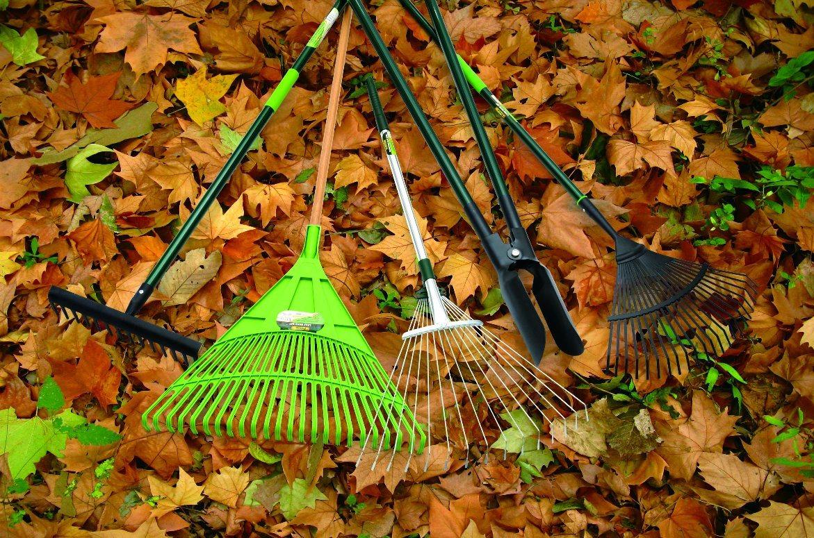 High Quality Garden Tools Carbon Steel Leaf Rake with Fibreglass Handle