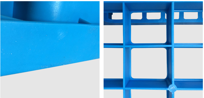 Warehouse Storage Products 1100*1100*155mm HDPE Plastic Pallet Forklift Plastic Tray Wih 3 Runners