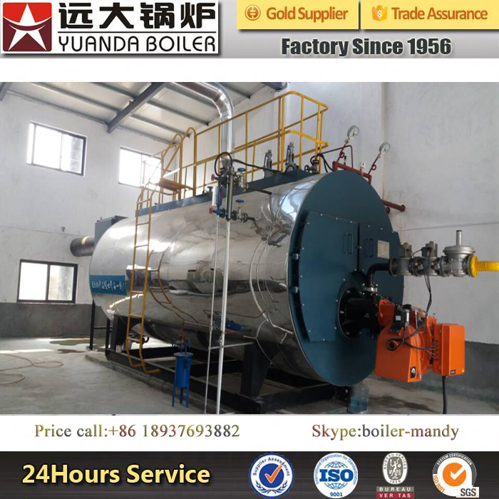 Wns Series 1ton 2ton 3ton 4ton 5ton Natural Gas LPG LNG Fired Fire Tube Steam Boiler