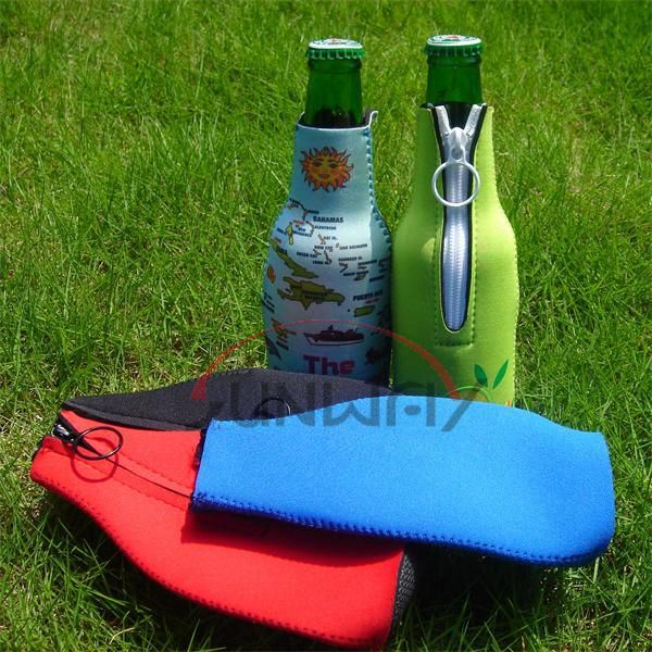 Neoprene Insulated Beer Beverage Bottle Holder Drink Bottle Cooler (BC0003)