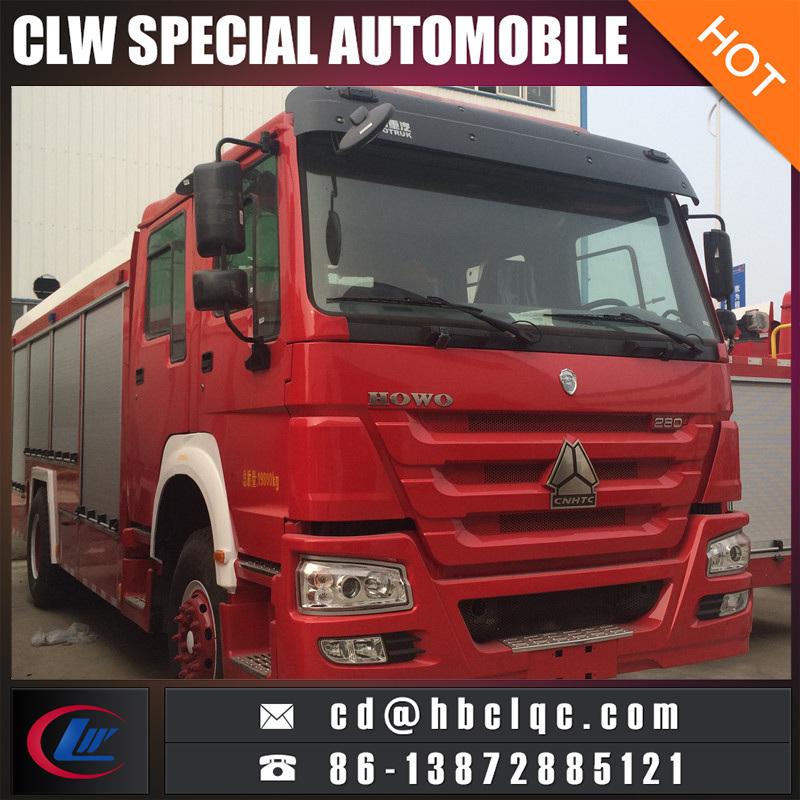 Hot Sales HOWO 6X4 12t 16t Waer Foam Fire Fighting Vehicle Fire Engine