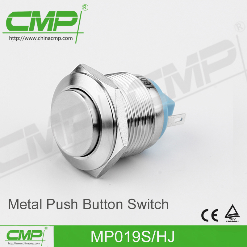 19mm Metal Push Button Switch with Flat Head