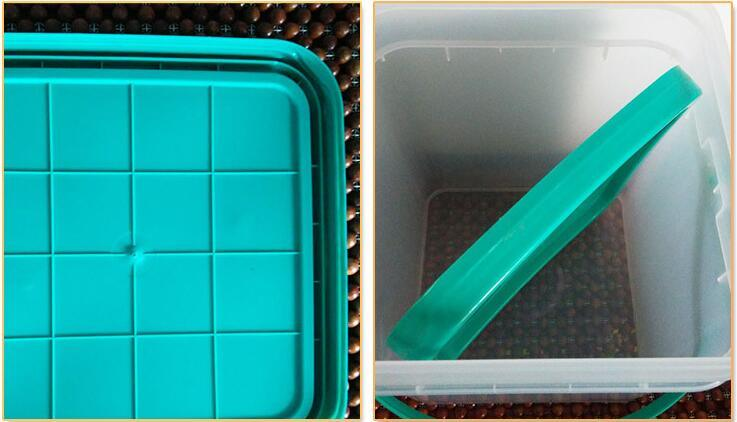 15L HDPE/PP Food Grade Square Plastic Bucket