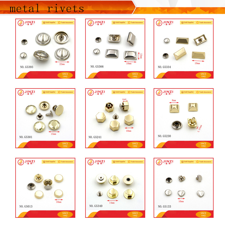 Hot Selling Custom Decorative Metal Button Rivets/ Custom Jeans Rivets/Metal Custom Rivets
