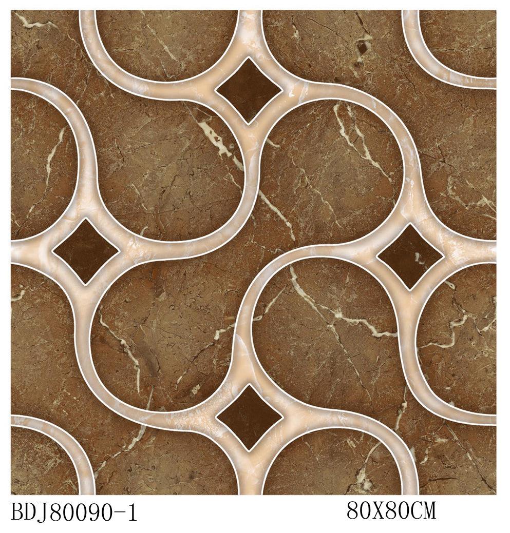 Puzzle piece floor tiles