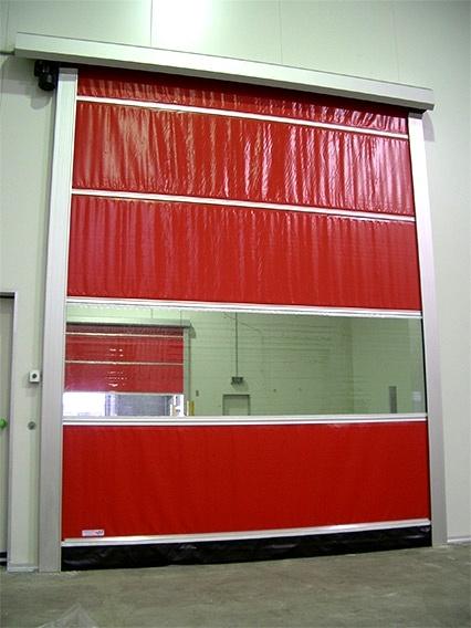 Factory High Speed Rolller Shutter, PVC Transparent Curtain Roll up Door (Hz-HSD010)
