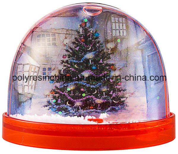 Plastic Snow Globe with Snow Flake Inside