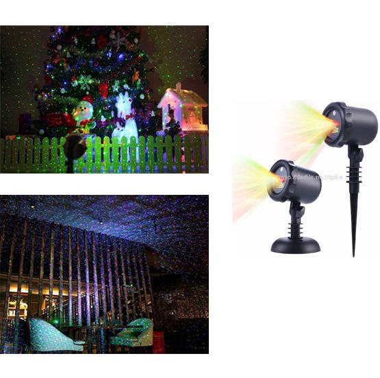 Red Green Outdoor Laser Christmas Lights /Waterproof Garden Landscape Laser Projector