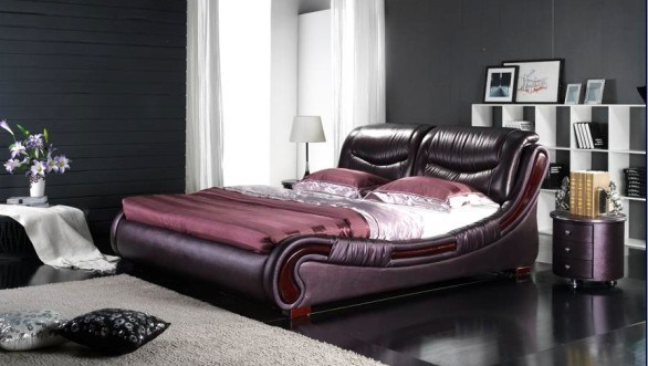 Bedroom Furniture Leather Soft Bed (BST6073)