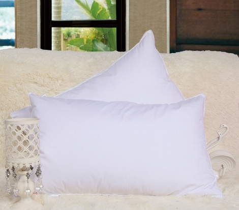 Kinds Sizes White Cotton Soft Pillow