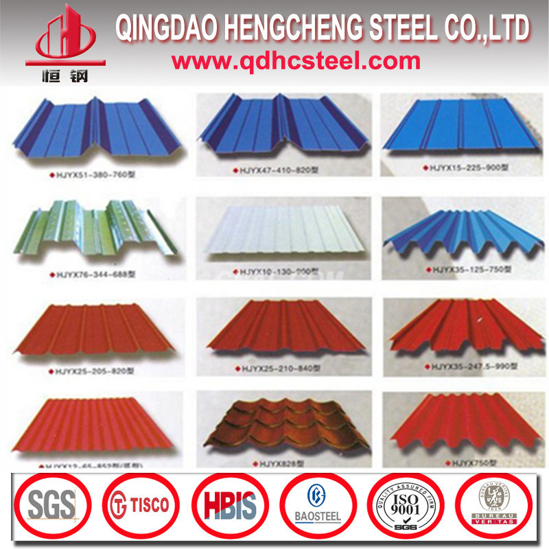 Prepainted Galvanized Coated PPGI Corrugated Steel Roofing Sheet