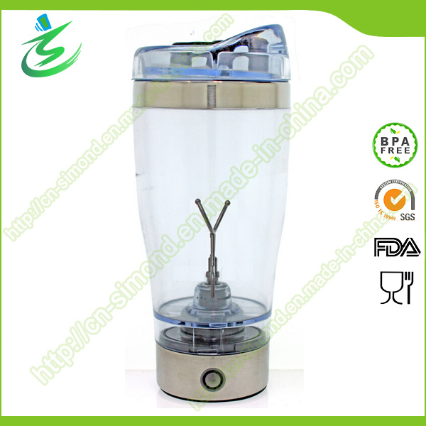 500ml BPA Free Stainless Steel Electric Shaker Bottle