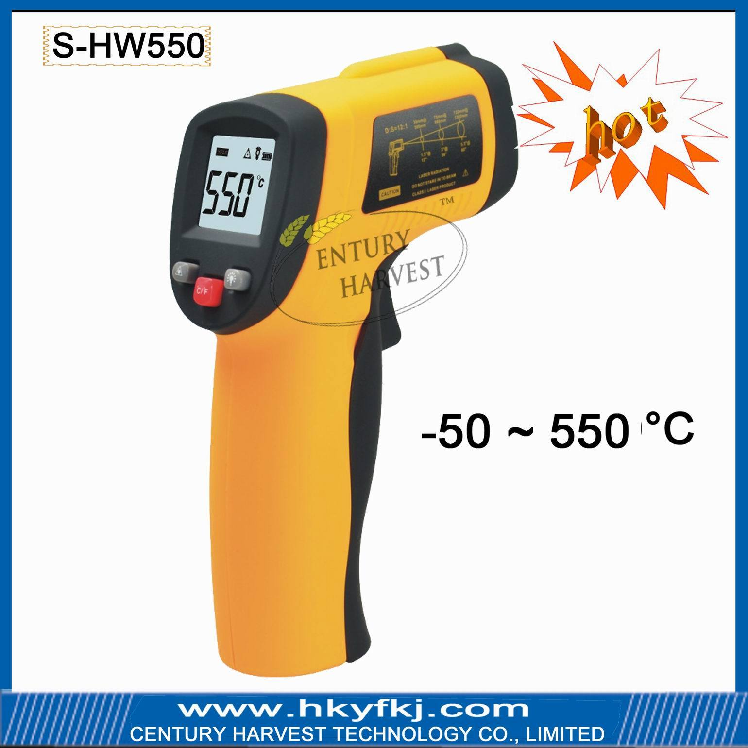 China Non Contact Gun Infrared Thermometer S HW550