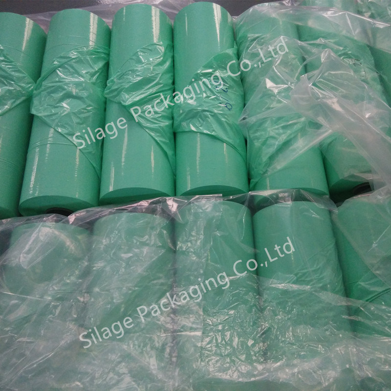 Strong Anti-UV Blown Green Color Silage Wrap Film / Bale Wrap Film Silage Film