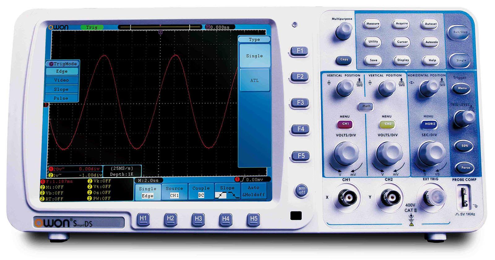 OWON 70MHz 1GS/s Deep Memory Digital Oscilloscope (SDS7072)