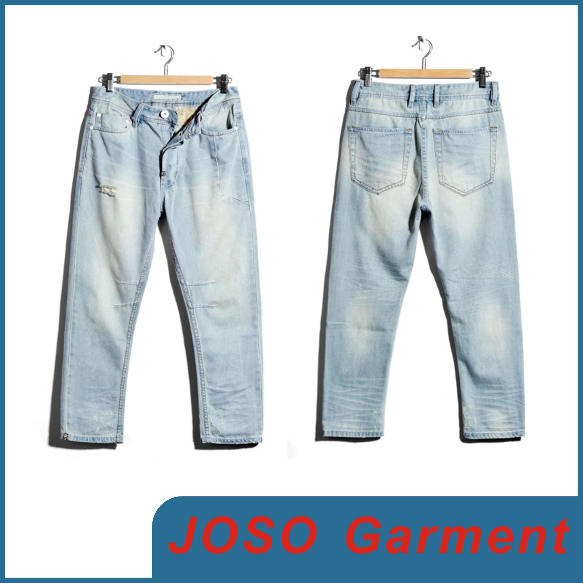 China Men Destroyed Light Wash Jeans (JC3067) Photos & Pictures ...