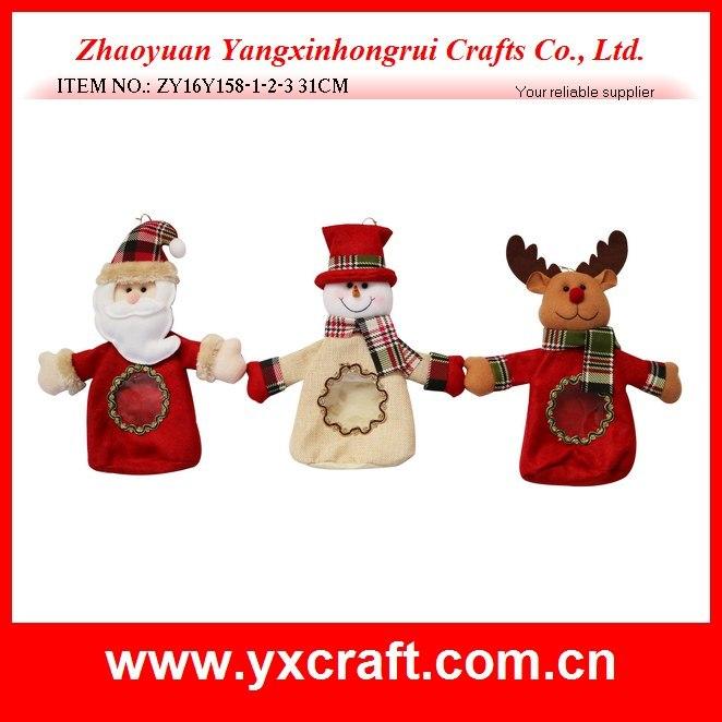 Christmas Decoration (ZY16Y158-1-2-3 31CM) Shiny Christmas Bag Candy Handbags