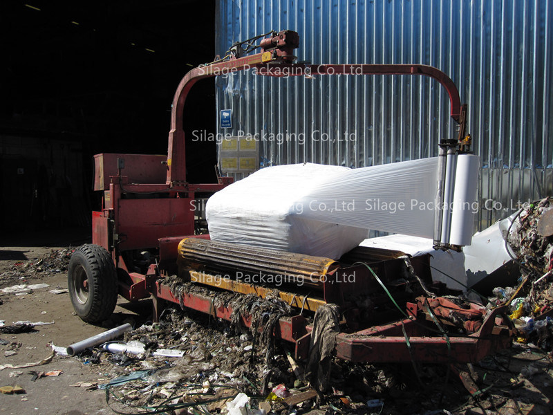 LLDPE Blown Waste Wrap / Garbage Wrap / Trash Wrap Square Bale Film