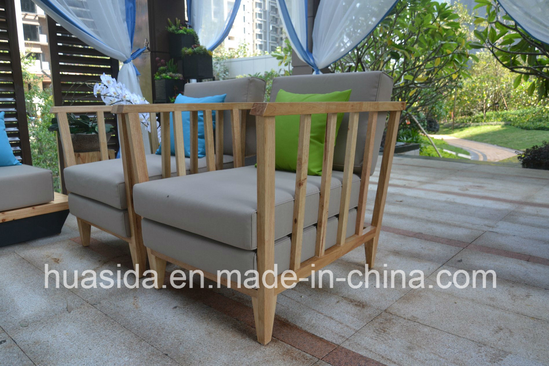 Waterproof Anti-Faded Solid Wood Modular Sofa Set