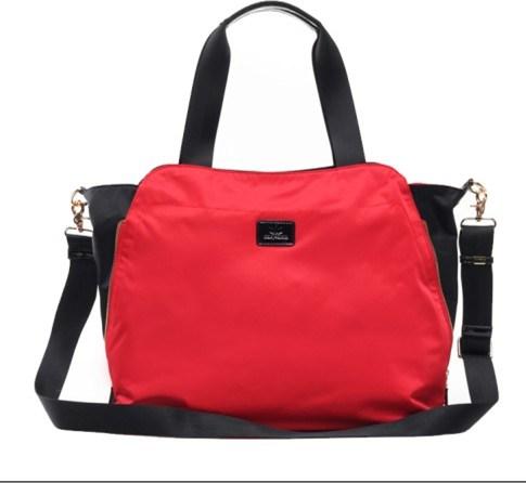 New Desinger Fabric Handbags with Leather /Waterproof Fabric Handbags (BS12367)