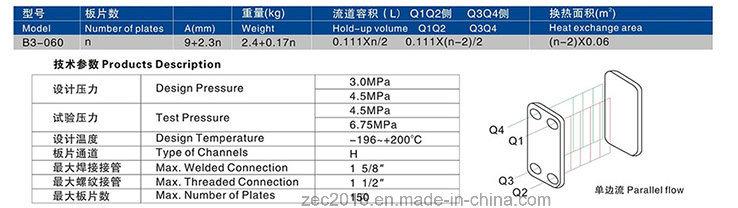 Soldering Plate Heat Exchanger for HVAC