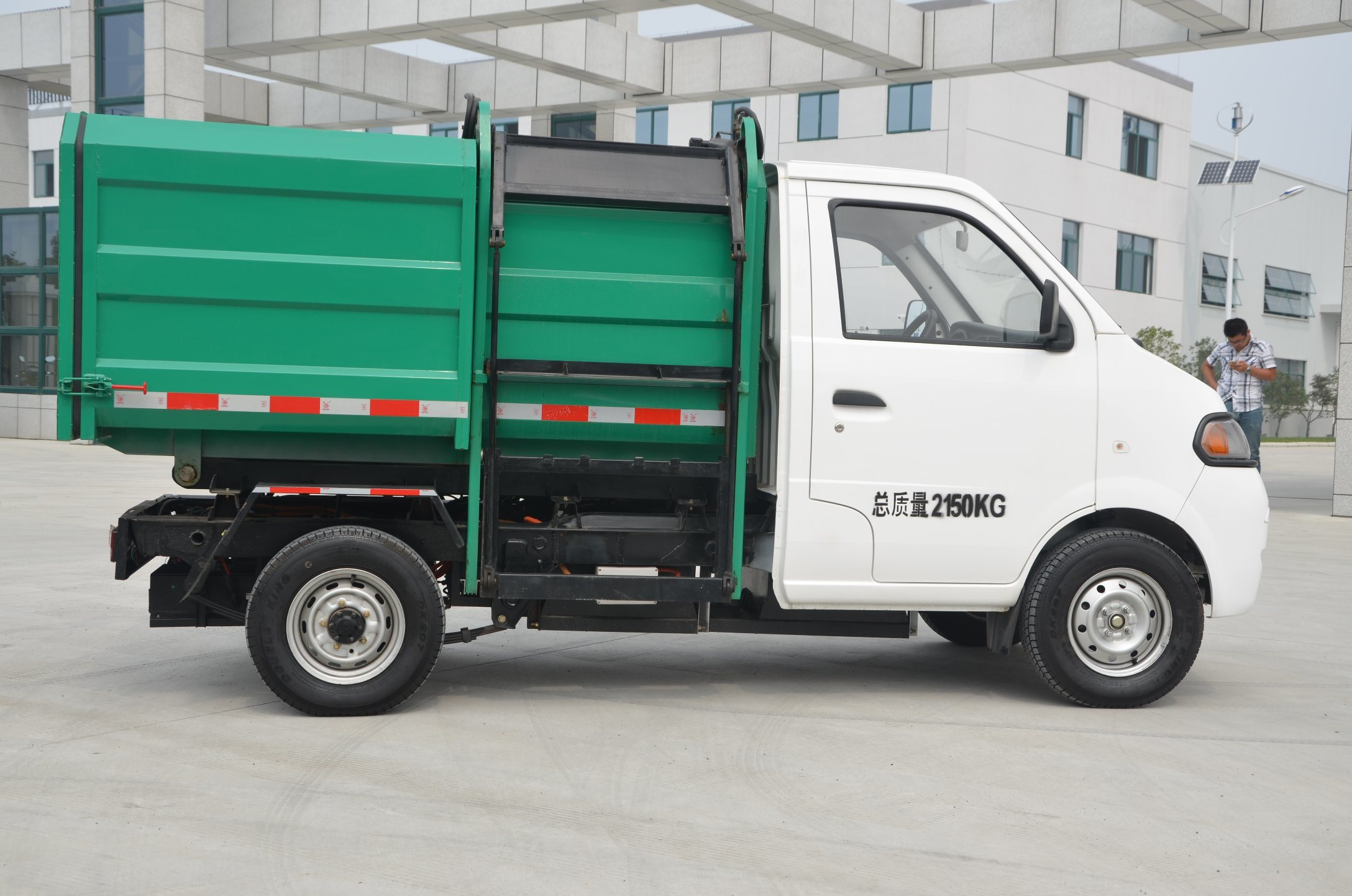 Electric Urban Garbage Truck with Detachable Container