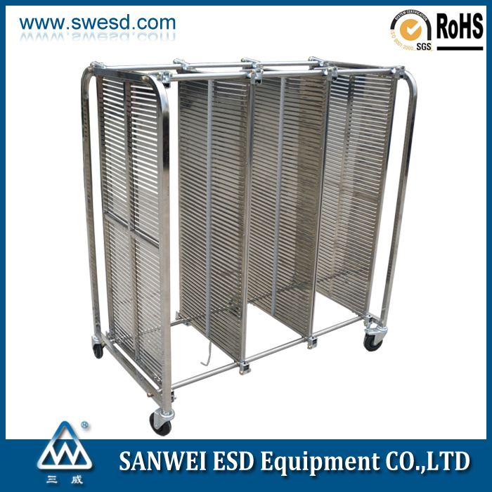 ESD Antistatic PCB Stainless Steel Trolley (3W-9806202)