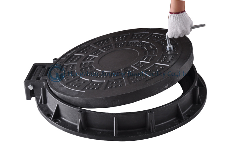 Anti-Theft D400 SMC Composite Manhole Cover with Hinge and Lock