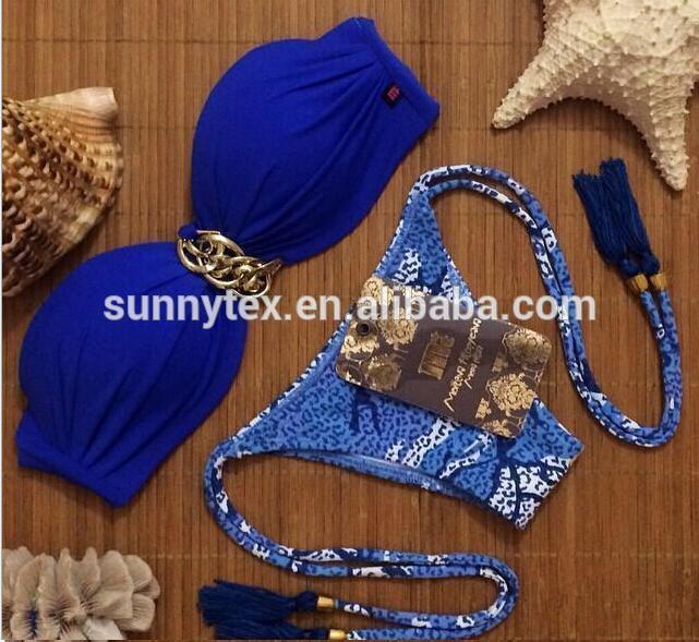 2017 Sexy Hot Lady Brazilian Beauty Custom Macrame Tassel Bikini