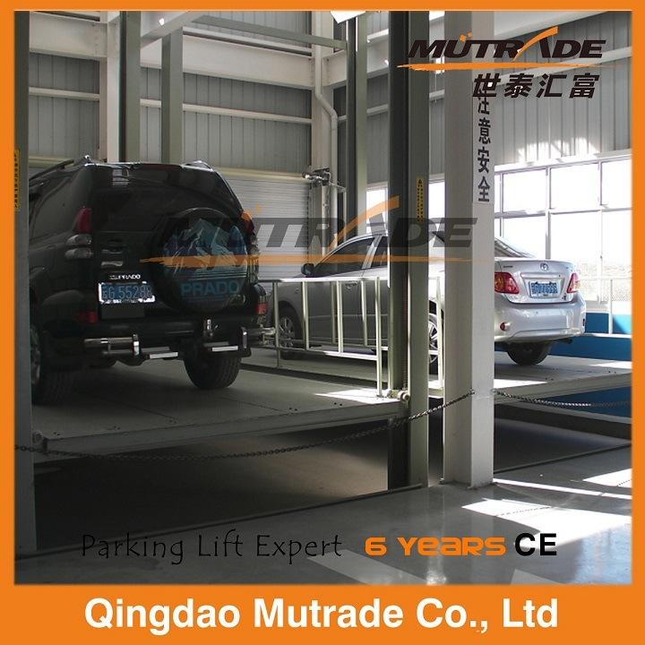 Four Post Vertical Hydraulic Car Elevator