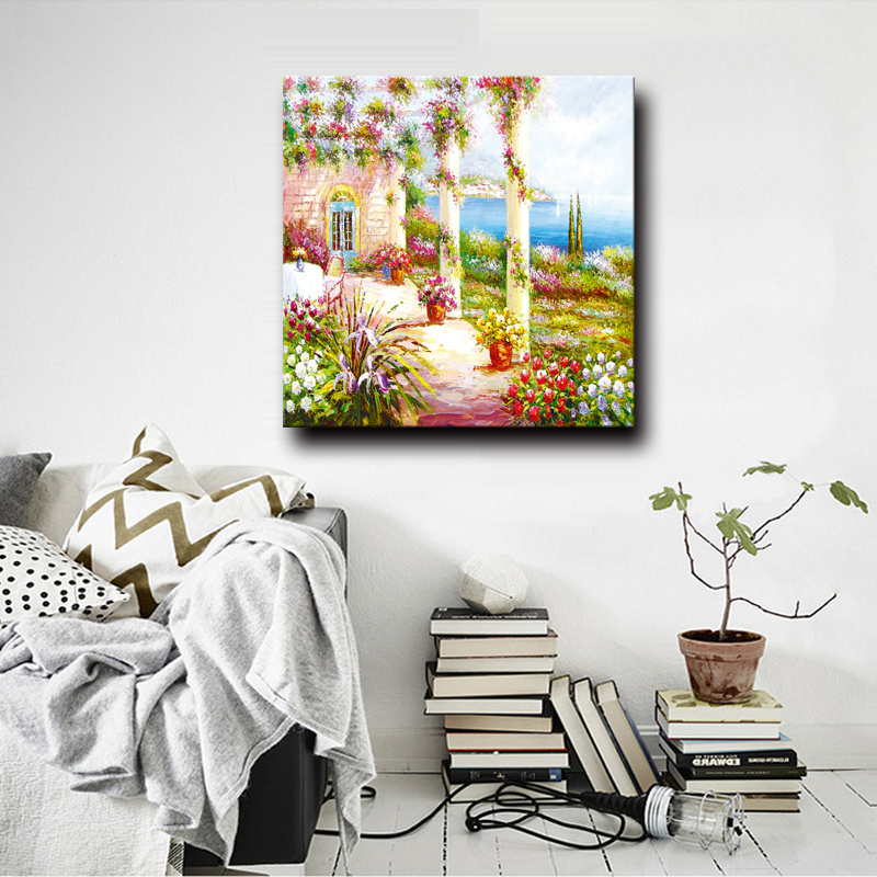 Natural Scenery Wall Picture Home Decor Great Artwork Garden Scenery Oil Painting