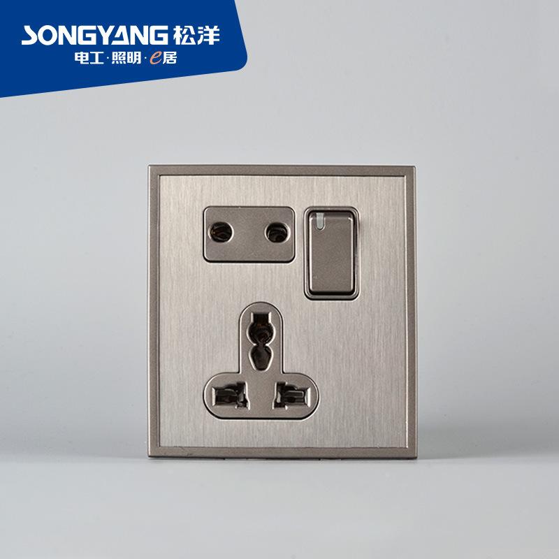 Stainless Steel Series Mf/Socket Wall Socket