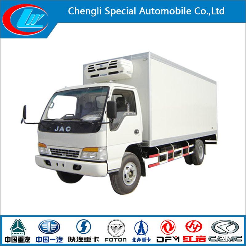 New Condition Mini JAC Mobile Kitchen Truck 3 Ton JAC Mini Refrigerated Van Truck Mini Frozen Truck Sale