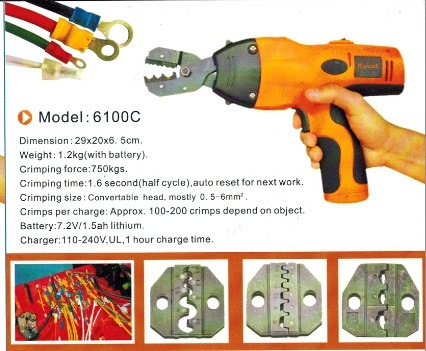 Power Crimping Tool for Wire Cable Terminal with Dies