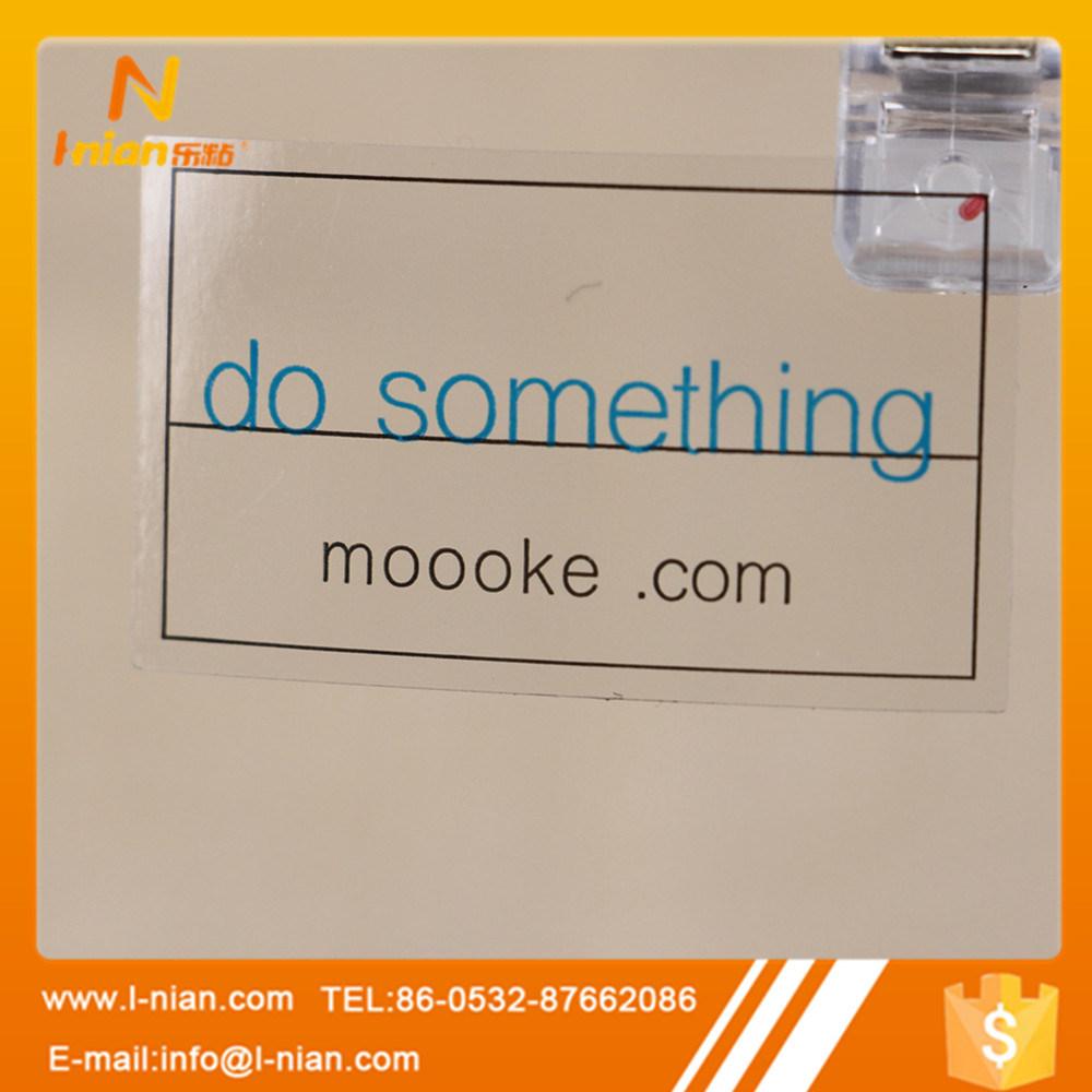 Custom Printing Transparent Logo Sticker