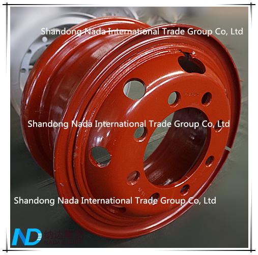 8.5-20 Tube Rim TBR Truck Steel Wheel with TS16949/ISO9001: 2000