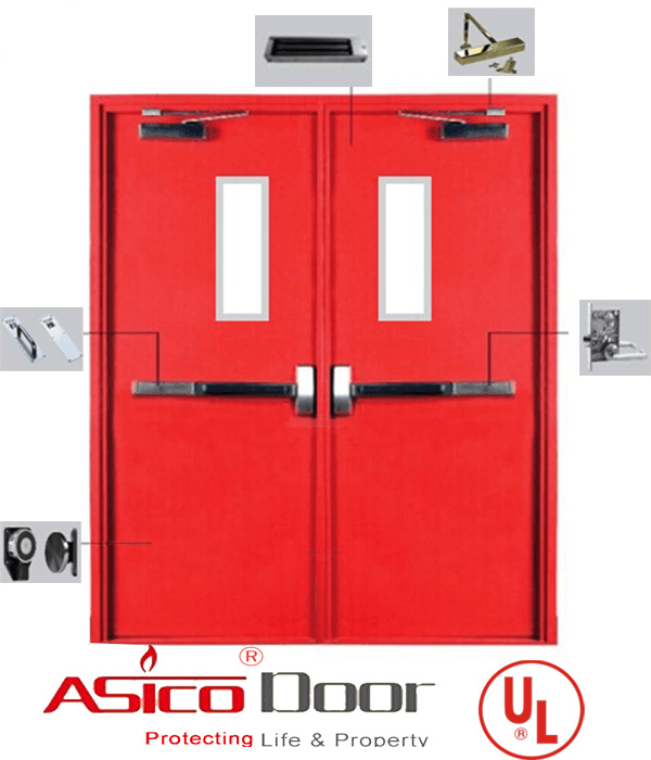 American UL Standard 10b, 10c and Ubc 7-2 Safety Door