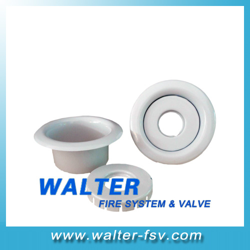 White Color Recessed Escutcheon