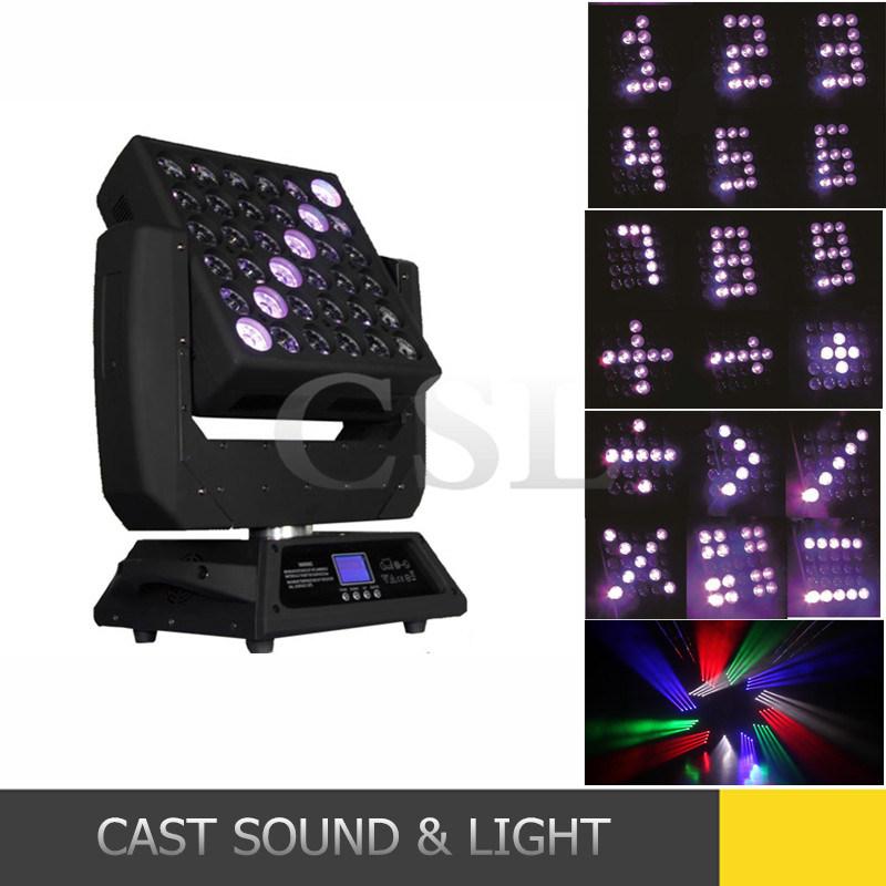 Popular 25PCS Matrix LEDs Moving Head Beam Light with Wash Effect