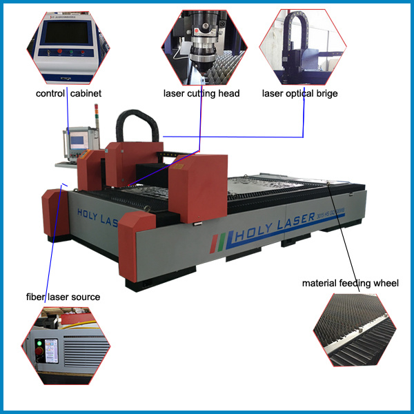 Fiber Laser Cutting Machine for Metal Cutting with Ce Approved