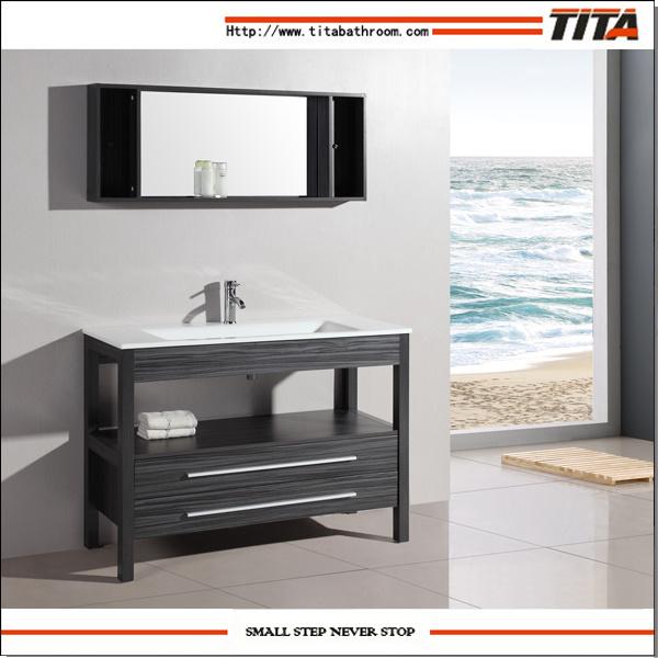 Oak Floor Standing Bathroom Cabinets : China floor standing bathroom cabinet solid wood bath
