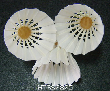 Goose/Duck Feather Badminton Shuttlecocks with 2 or 3 Layers Cork Wood Head for Sports and Training