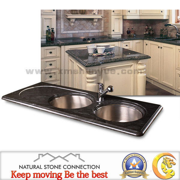 Marble Countertops Product : China man made black granite marble stone countertop for