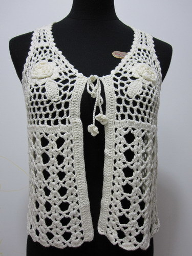 Las Vest Free Crochet Pattern - KarensVariety.com