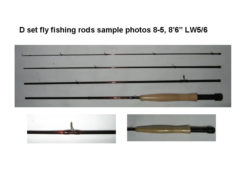 d set fly fishing rods 8 5